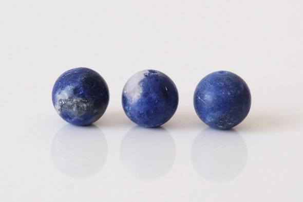 matte lapis lazuli kralen, bolletjes om armbanden te maken, zahia