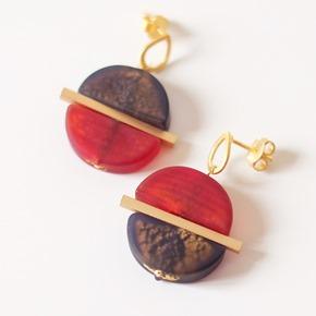 oorbellen met kralen van murano glas, zahia juwelen