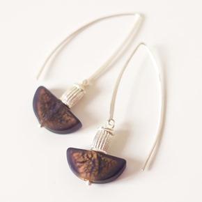 zilveren oorbellen met kralen van muranoglas, juwelen zahia