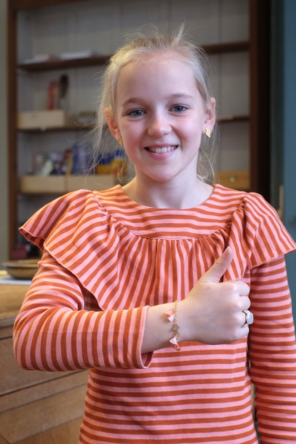 communiejuweeltje armbandje met flosje en ring juweel communie meisje