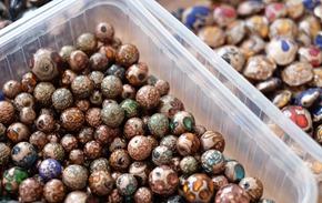 glaskralen om juwelen te maken, stockverkoop 31