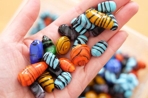 glaskralen om juwelen te maken, stockverkoop 34
