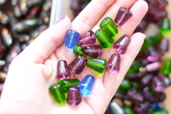 glaskralen om juwelen te maken, stockverkoop 9