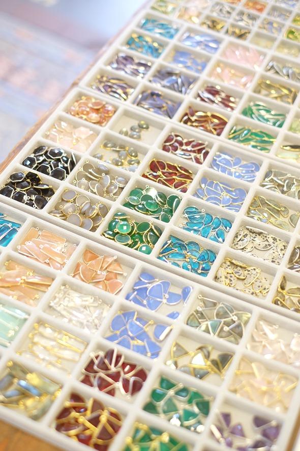 Bezel gemstones bedels en linkjes om juwelen en sieraden te maken