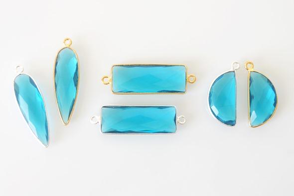 Bezels bedels en linkjes met apatiet edelsteen om juwelen te maken
