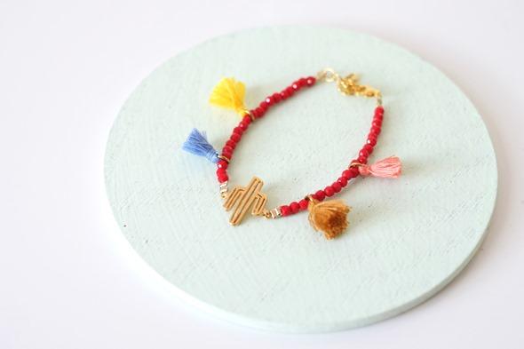 armbandje met rode kralen communie juweeltjes
