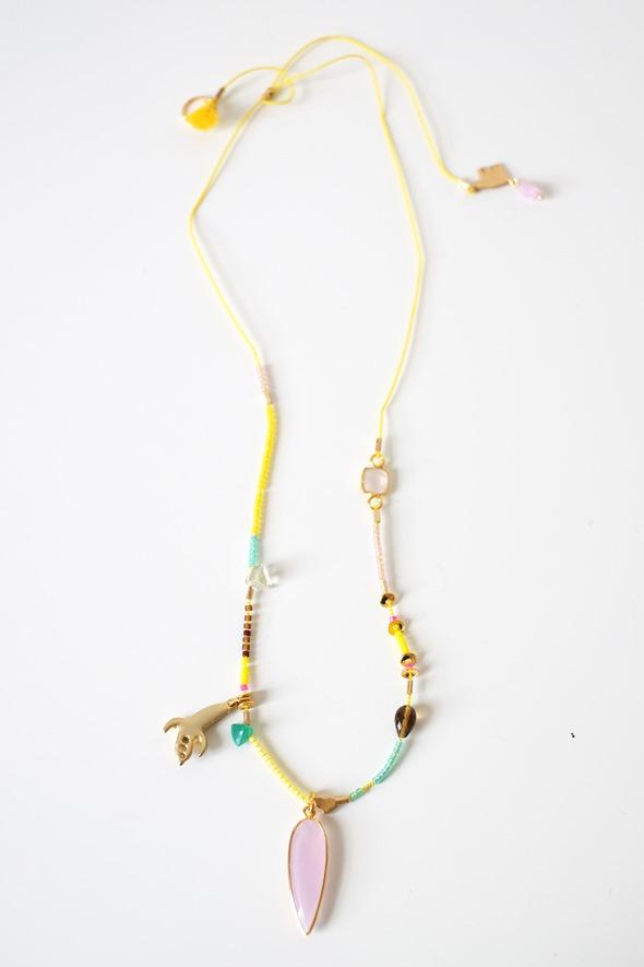 juweel communie lentefeest, halsketting met gele kralen