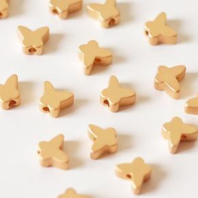 kralen gouden vlinders om juwelen te maken, kralen webshop zahia, WO03571