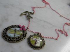 vintage   roze ketting 002