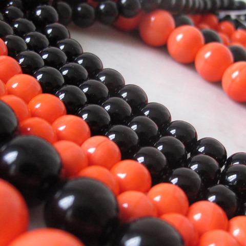 Halloweenactie: 50 percent korting op alle zwarte en oranje kralen!
