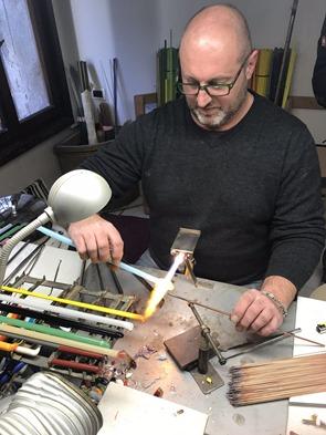 kralen maken atelier Murano glas Venetië