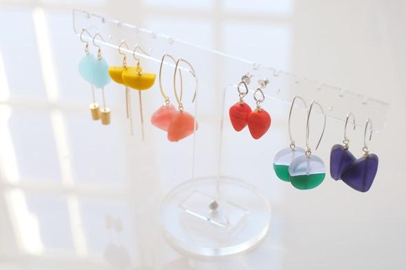 oorringen met de nieuwe collectie murano glas