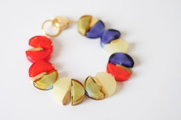armband met murano glaskralen sommerso, zahia juwelen