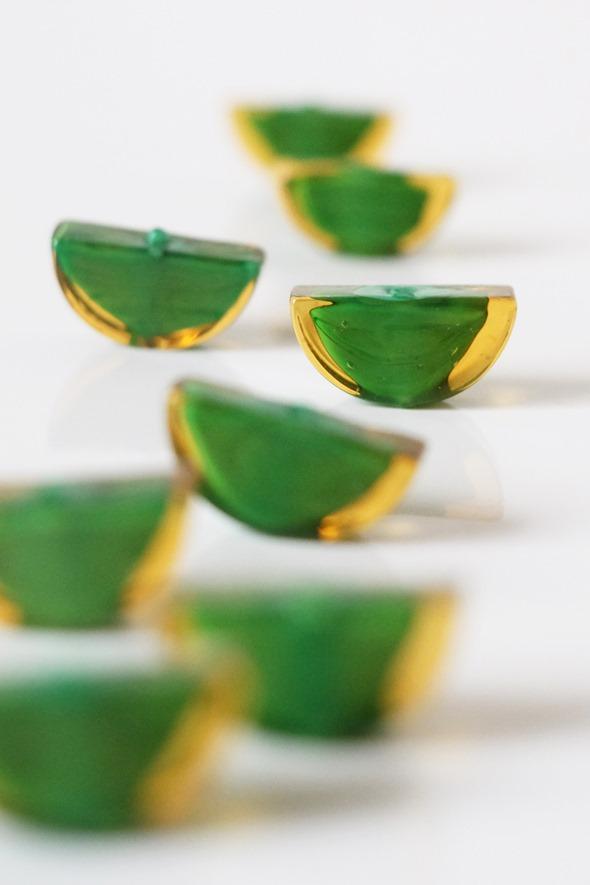 sommerso kralen venetiaals glas, groen (1)