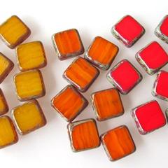 glas-in-lood-vierkant-warm-geel-oranje-rood