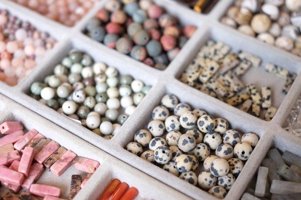 jaspis bolletjes kralen om juwelen te maken