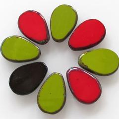 druppel rood groen bruin