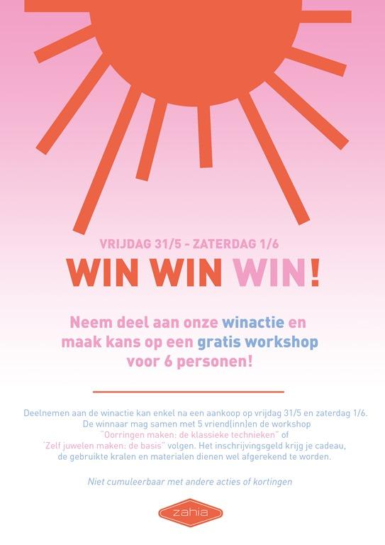 Win een gratis workshop voor 6 personen!