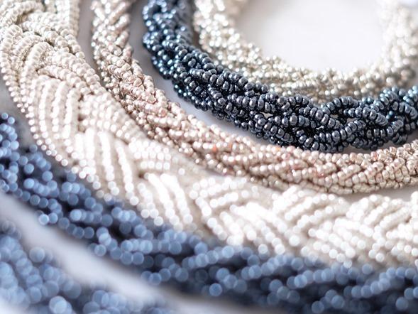 blauw zilver grijs snoeren vintage rocailles_seed beads_zahia kralen4