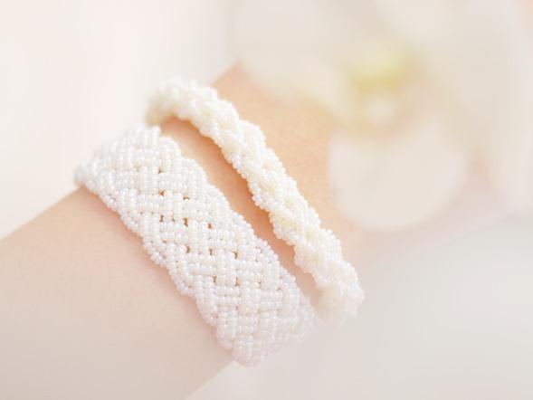bruidsjuweel parelmoer vintage rocailles_seed beads_zahia kralen