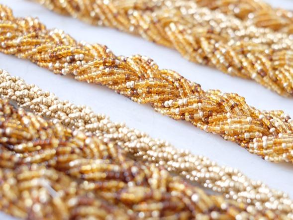 snoeren vintage rocailles_seed beads_zahia kralen juwelen_brons goud2
