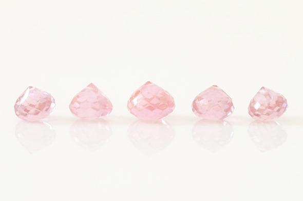 roze zirkoon briolettes
